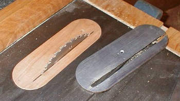 ZCI vs standard table saw throat plate