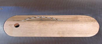 wooden zero clearance insert with finger hole